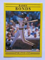 Barry Bonds Fleer 1991 MLB Trading Card #33 Pittsburgh Pirates