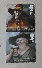 Royal Mail a publié le disque-monde timbres Nounou Ogg & Rincevent neuf sans charnière 1st Classe NEUF
