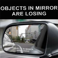 White Funny Car Truck Window Vinyl Decal Sticker-Objects In Mirror Are Losing