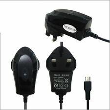 BLACK UK PLUG MICRO USB MAINS TRAVEL CHARGER FOR MOTOROLA MOTO G MOBILE PHONE