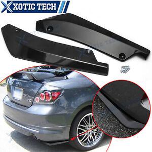 For Scion tC xB FR-S Rear Bumper Splitter Diffuser Canard Gloss Black ABS - 2pc