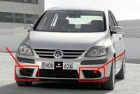 FOR VW GOLF PLUS 2005-2009 FRONT BUMPER FOG LIGHT GRILLE COVERS LEFT+RIGHT PAIR
