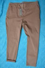 SUSSAN Tapered LEG/Cuff Mocha Brown Jeans/PANTS Size 18 rrp $89.95 STRETCH. NEW