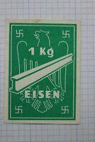 Germany Revenue Steel Beam 1kg Eisen Ostland Green Large Nazi Fiscal tax stamp