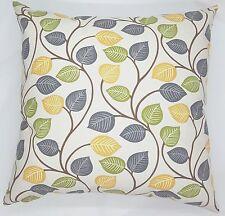 Handmade Green, Grey & Yellow Leaf Home Decor Cushion Cover 45x45 or 50x50 New