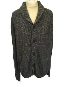 """Men's M&S Full Button Cardigan Blue Mix Ul Large 41-43"""" Chest Pockets T583"""