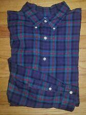 919c XXL Navy Green Red Black Plaid RALPH LAUREN POLO Classic Fit L/S Shirt!