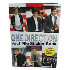 ONE DIRECTION FACT FILE STICKER BOOK WITH REUSABLE STICKERS - BRAND NEW RRP £4
