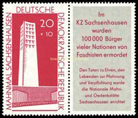 EBS East Germany DDR 1960 Sachsenhausen Memorial + TAB Michel 783B MNH**