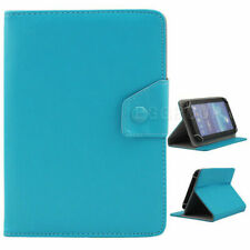 """For Samsung Galaxy Tab A/E/S2/4 7""""8""""2018 PU Leather Stand  Folio Case Cover-Cyan"""