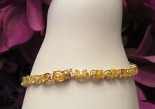 "7"" 14K Gold Oval Citrine Tennis Bracelet"