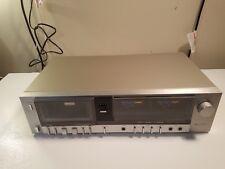 Vintage Fisher CR-125 Stereo Cassette Deck. Huge Meters. Tested.