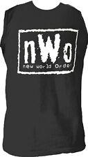 Adult Mens nWo New World Order Logo Wrestling Black Sleeveless T-shirt Tee