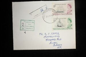 TRISTAN DA CUNHA  INTERESTING COVER ADDRESSED TO GEORGE CRABB ENGLAND