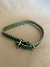 Leather Dog Collar Green