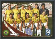 PANINI-2017 FIFA 365- #293-BRAZIL WOMEN TEAM PHOTO-GOLD FOIL