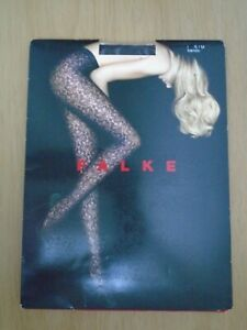 """Falke All Over Lace Tights Burgundy Barolo S / M  5' - 5' 4"""" Hips 34"""" - 38"""" BNIP"""