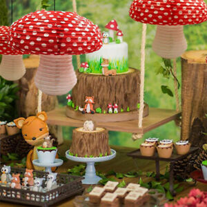 4x Mushroom Paper Lanterns Children Birthday Wedding Party Hanging Decorations