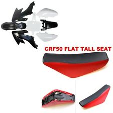 For CRF 50 BLACK PLASTICS +RED TALL SEAT PIT BIKE 50/70/90/110/125CC for ATOMIK