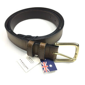 RM Williams Simpson Belt Brown Cowhide Leather Size 32 RRP $120 Made In Aus