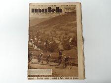 *Rare Vintage 1930s 'MATCH' Cycling Magazine (Perpignan-Luchon) 20 July 1937*