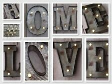 A To Z Light Up Marque Letters LED Battery Lights - Retro Fairground-Style Sign