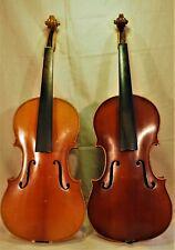2 x Geige, Violine  4/4 um 1900 1 x mit Zettel