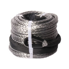 """3/8"""" x 95' 20500LBs Synthetic Winch Line Cable Rope with Sheath ATV UTV Grey CE"""