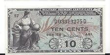 MPC Series 481  10  Cents  1st  Printing  GEM   UNC