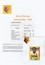 WORRELL STERLING WATFORD 1982-1989 ORIGINAL HAND SIGNED FIGURINE PANINI STICKER