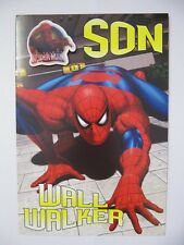 FANTASTIC COLOURFUL WALL WALKER SPIDER-MAN SON BIRTHDAY GREETING CARD & BADGE