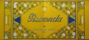 Art Deco 1920s French Large Chocolate Box Label: Gismonda, Chocolat-Vinay, Paris