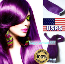 Tape In Hair Extensions Remy Human Hair Straight Seamless Skin Weft PU Hair Long