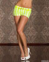 NEU Damen Hotpants aus dünnem Jeans-Stoff Shorts kurze Hose Gr. 36/38 SALE! Neon