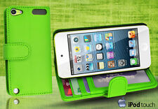 Green Side Wallet Leather Case Cover for iPod Touch 5th Generation iTouch 5 +SP