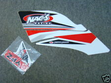 Nac's Racing atv graphics kit YFZ450 yfz red/wh nacs