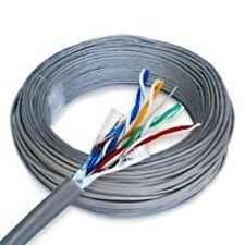 CAT 5 CAT 5E BULK ETHERNET CABLE 500 FT SOLID SHIELDED GRAY