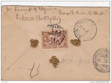 PORTUGAL VASCO DA GAMA STAMP,SEALED REGISTERED COVER LISBONNE TO NAPOLES -ITALY