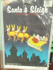 Vintage Beistle Creation Santa & Sleigh Centerpiece Chirstmas Decorations 1979