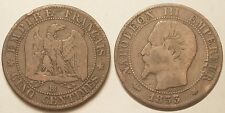 Napoléon III, 5 Centimes 1853 BB Strasbourg !!