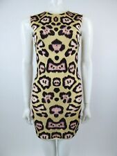 Givenchy Leopard Print Sleeveless Fitted Dress Size XS