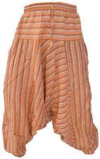 algodón claro Multicolor Hombre Pantalones Informales Verano Rayas Aladdin Hippy