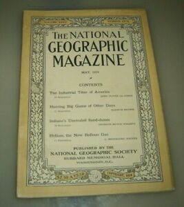 National Geographic May 1919 Chasse Big Game Indiana Sable Dunes Helium