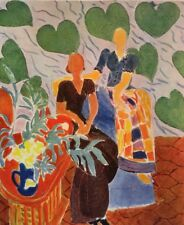 Henri Matisse,Two Figures On Backround Foliage Offs.Lithograph 1939,Platesigned