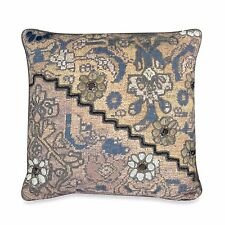 Upstairs by Dransfield & Ross Antalya Square Toss Pillow Embroidered Flower Bead