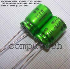 100uF 25V NICHICON BP MUSE ACOUSTIC Condensatore bipolare per audio 2 pezzi