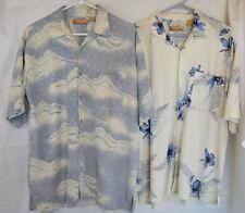 Lot of 3 Mens Size L Hawaiian Shirts Bobby Chan Island Tropics Silk Poly EUC