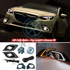 LED DRL Daytime Running Light & Fog Lamp Wiring Kit For Mazda 3 Axela 2013-2016