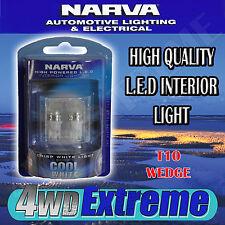 NARVA HIGH QUALITY LED INTERIOR LIGHT CRISP COOL WHITE 6000K T10 WEDGE 18062BL