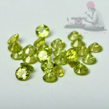 Natural Peridot 5mm Round Faceted Cut 5 Pieces Green Color Loose Gemstone Lot